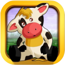 baby cow animal game icon small