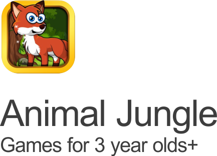 animal jungle games fox icon set on a transparent background