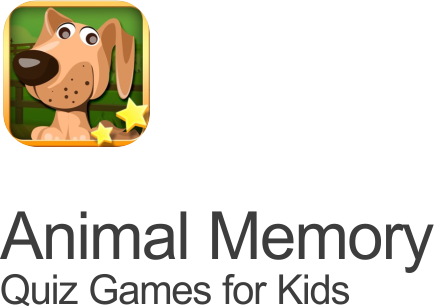 animal memory matching quiz games for kids cartoon dog icon on transparent background