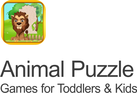 animal puzzles feature icon on a transparent background