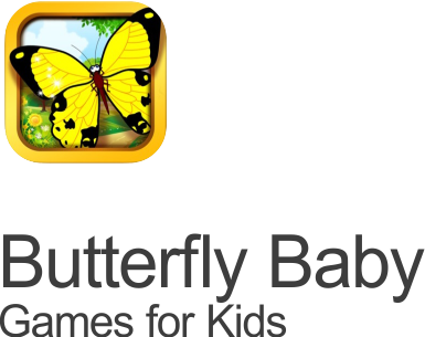 butterfly learning games icon set on transparent background