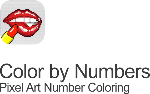 color by numbers coloring for adults icon on transparent background