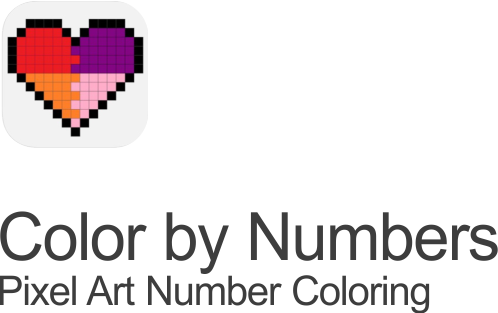 colors by number icons pixel art number coloring