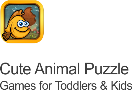 cute animal puzzle icon on transparent background