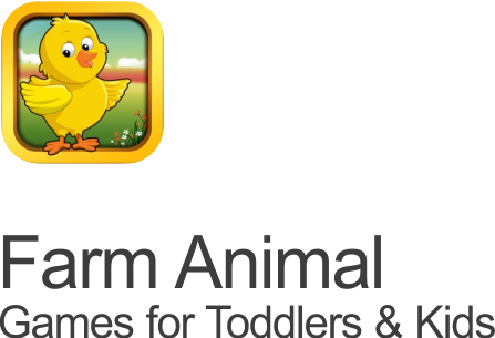 Cute baby games Farm animal Mafooly app with a duckie icon on transparent background