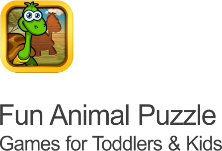 fun animal puzzles game icon featuring an adorable cartoon turtle