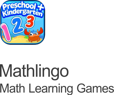 mathlingo math games for kids icon set on a transparent background