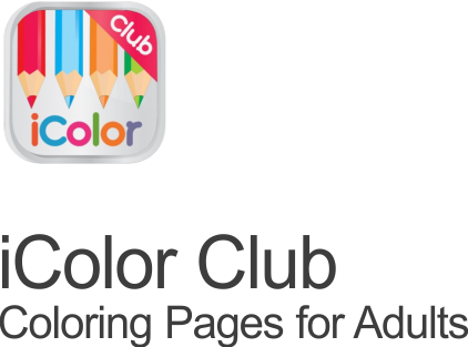 icolor club coloring pages for adults icon