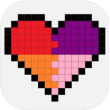 pixel art coloring by numbers icon small