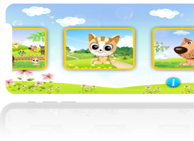 privacy policy mafooly banner of cat and dog cute animal photos on a phone screen